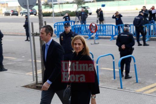 Infantin Cristina mit Ehemann Iñaki Urdangarin auf Mallorca.