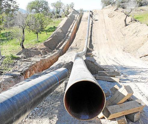 Die Arbeiten an der Erdgasleitung von Palma nach Felanitx schreiten voran