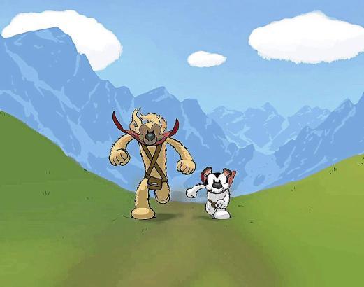 Zwei Hunde mit menschlichen Zügen: Atlas und Axis sind die Protagonisten in den Geschichten des mallorquinischen Comic-Zeichners