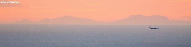 Die Berge der Tramuntana vor der Morgenröte.