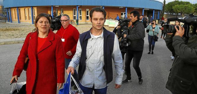 Das mutmaßliche Justizopfer van der Dussen bei seiner Entlassung auf Mallorca.