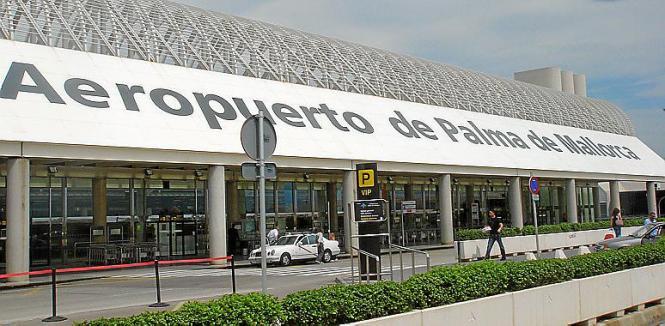 Der Flughafen von Palma de Mallorca.