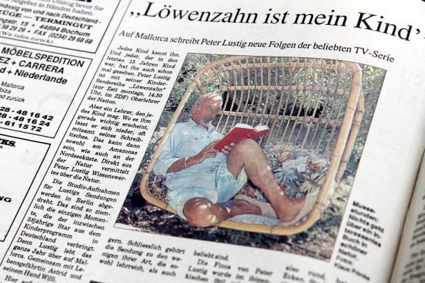 Peter Lustig im Mallorca Magazin, 1995.