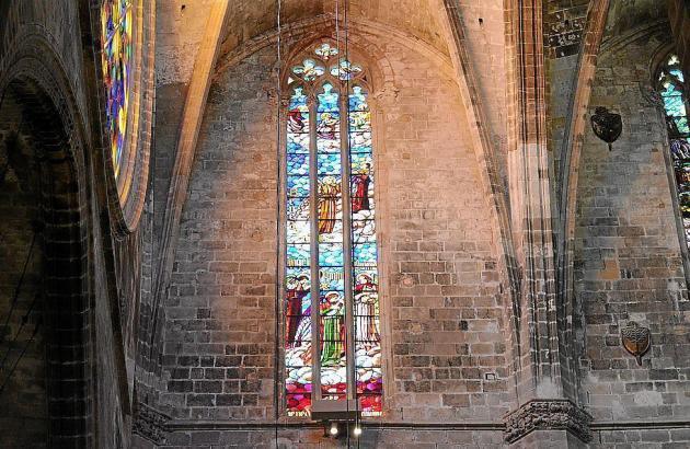 Sorgten für Zündstoff: die Fenster der Kathedrale von Palma de Mallorca.