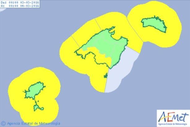 Wetterwarnung auf Mallorca.