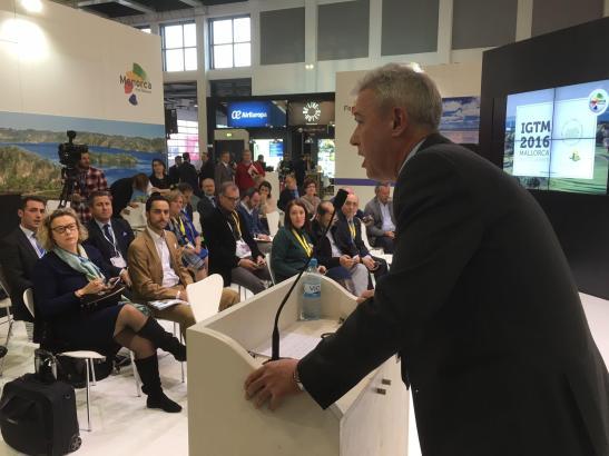 Carlton Carugati, Chef der Golftourismus-Organisation IAGTO zeigte sich auf der ITB erfreut darüber, dass der IGTM im November a