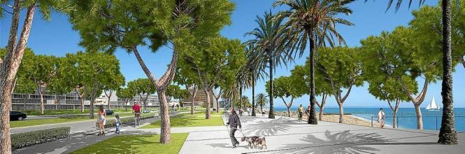 Ein breiter Boulevard und weniger Verkehr: So stellen sich die Architekten den neuen Paseo Marítimo vor.