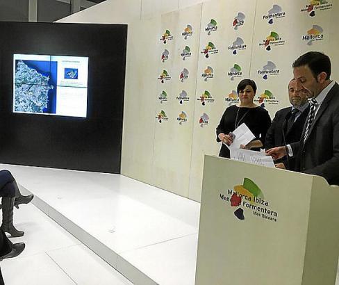 Capdeperas Bürgermeister Rafel Fernández war persönlich zur ITB nach Berlin gekommen, um das Freizeitprogramm zu präsentieren.