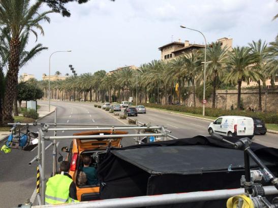 Drehaufnahmen auf Palmas Paseo Marítimo: Die Stadt ist als Filmkulisse gefragt.