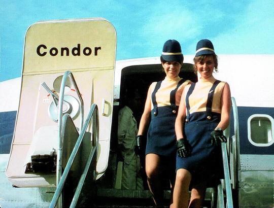 Der Sonne entgegen: Condor-Stewardessen in den 1960er Jahren.