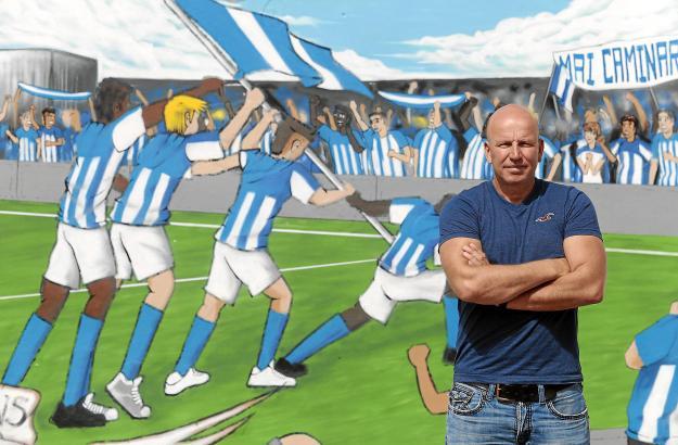 Atlético-Baleares-Besitzer Ingo Volckmann im Stadion Son Malferit.