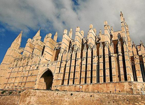 Die Kathedrale von Palma de Mallorca.