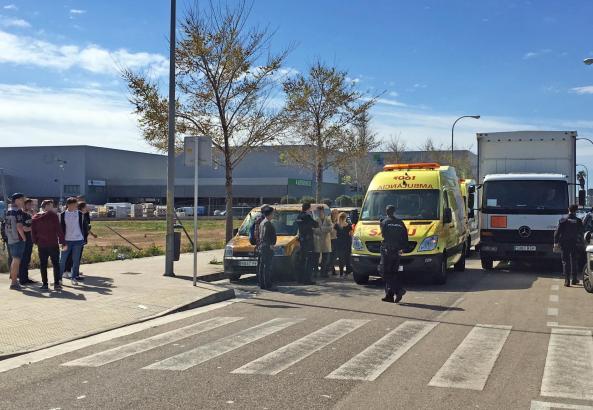 Die Rettungskräfte wurden in der Nähe einer weiterführenden Schulen an der Carretera de Sóller gerufen