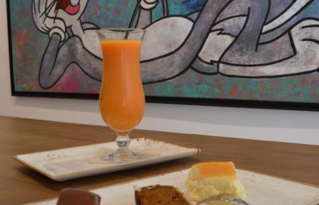 """Den angeblich """"besten Schokoladenkuchen der Welt"""" gibt es im Café der Galería Berlin."""