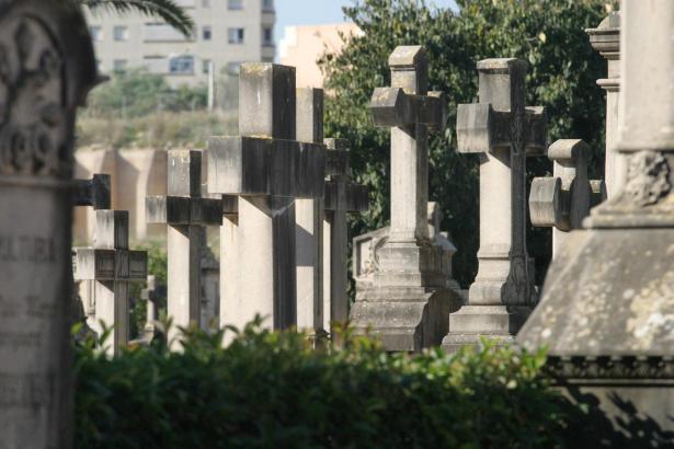 Die Aufnahme zeigt den Friedhof von Palma.