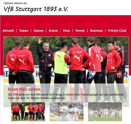 Auch auf der VfB-Webseite wird die Mallorca-Reise angekündigt.