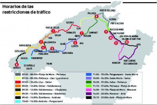 Der Verlauf des Radrennens auf Mallorca im Überblick.