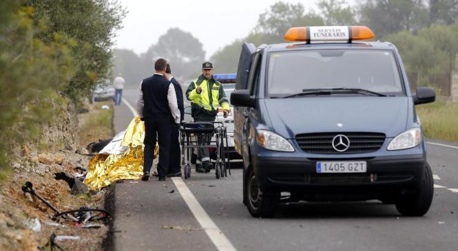 Der Unfall auf der Landstraße nach Sineu kostete zwei Menschen das Leben.