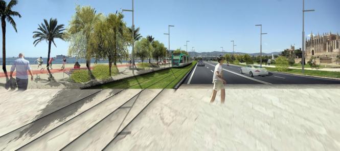 Eine schmalere Fahrstraße würde mehr Platz für Trambahn und Fußgänger schaffen.