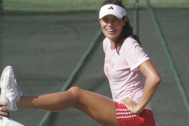 Ein Archivbild von Ana Ivanovic beim Training auf Mallorca.