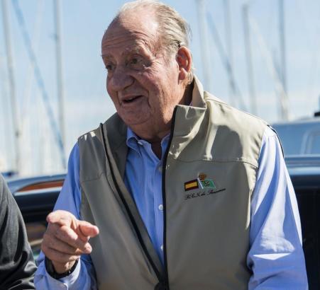 Zum ersten mal seit sieben Jahren wieder bei einer Regatta dabei: König Juan-Carlos.
