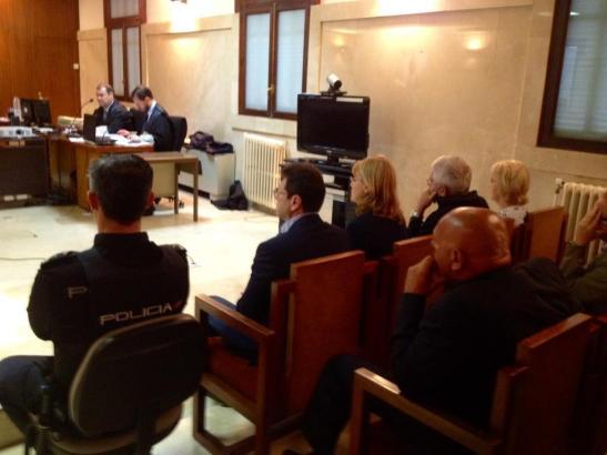 Am ersten Verhandlungstag in Palma de Mallorca.