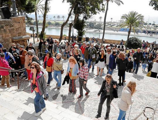 Auch in Palma de Mallorca war am Vatertagswochenende ein deutlicher Besucheranstieg spürbar.