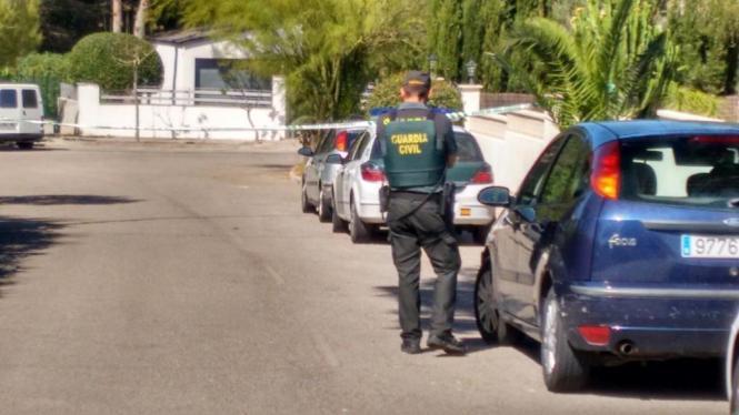 Die Guardia Civil ist in Santa Ponça vor Ort