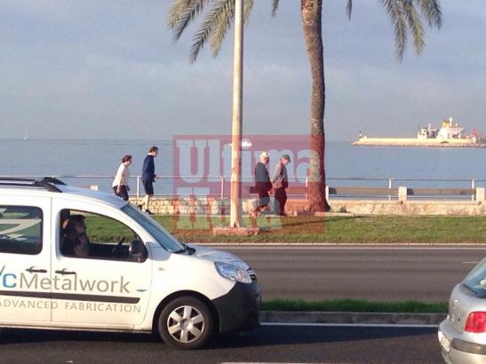 Mariano Rajoy läuft sich am frühen Donnerstagmorgen am Paseo Marítimo in Palma de Mallorca warm für einen langen politischen Tag