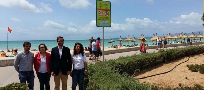 Lokalpolitiker zeigen Präsenz und Einigkeit an der Playa de Palma
