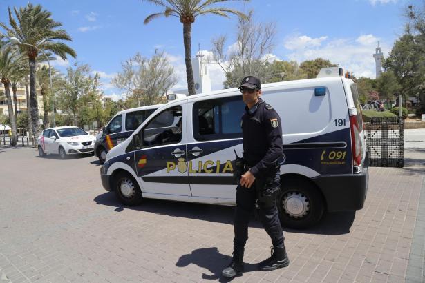 Polizeieinsatz in Palma de Mallorca.