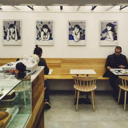 "Das ""Café Riu Tort"" von Albert Comas."