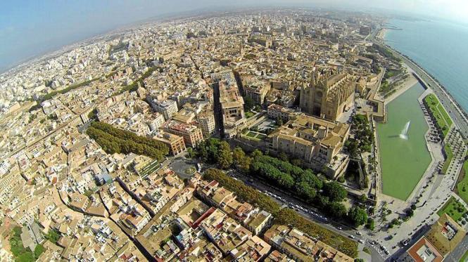 Der Stadtverkehr von Palma de Mallorca ist einer der Hauptauslöser für die Luftverschmutzung auf der Insel.