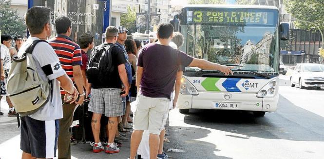 Die Anzahl der Nutzer der Stadtbusse von Palma de Mallorca steigt ständig an.
