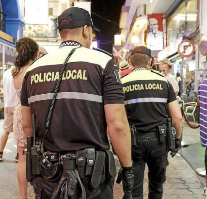 Einsatz der Touristenpolizei auf Mallorca.
