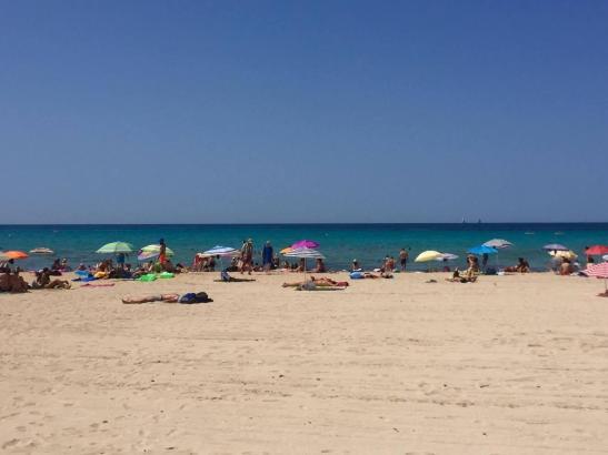 Am Freitag war am Strand von Can Pastilla noch Platz. Am Wochenende dürfte es dort noch etwas enger zugehen.