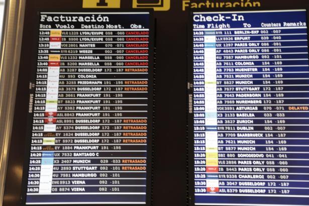 Cancelado! Wegen des Streiks in Frankreich mussten am Dienstag 22 Flüge ab Palma gestrichen werden.