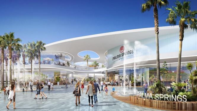 Noch existiert das Einkaufszentrum Palma Springs nur als Modell