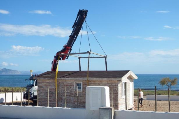 Der Strandkiosk war bereits ohne Genehmigung errichtet worden
