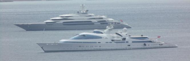 Schwimmende Paläste lagen am Mittwoch in der Bucht von Palma.