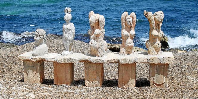 Skulpturen-Ausstellung von Joan Bennàssar in Can Picafort.