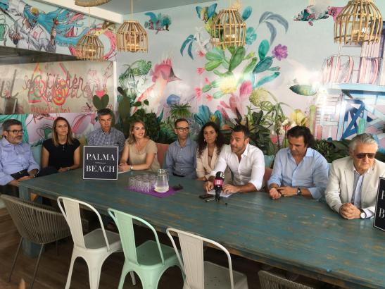 Palma-Beach-Pressekonferenz mit Vertretern von Hotels und Lokalen an der Playa de Palma.
