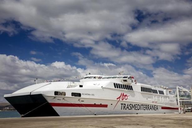 """Das Schiff """"Alcántara Dos"""" verkehrt für die Reederei Trasmediterranea zwischen Alcúdia und Ciutadella"""