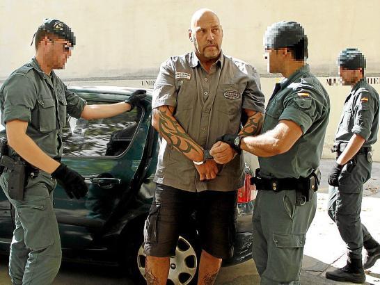Frank Hanebuth bei seiner Verhaftung 2013 auf Mallorca.