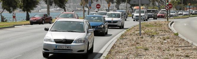 Die Einfahrt nach Palma de Mallorca am Kongresspalast vorbei gilt als Knotenpunkt. Hier herrscht regelmäßig Stau.
