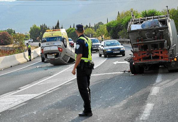 Der Wagen überschlug sich auf der Straße nach Port d'Andratx