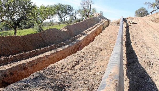 Die Arbeiten am Gastnetz in Manacor im Osten von Mallorca haben die archäologische Fundstätte ans Tageslicht gebracht.