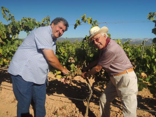 Sebastià Rubí und Ramón Servalls freuten sich über den Ernteauftakt.