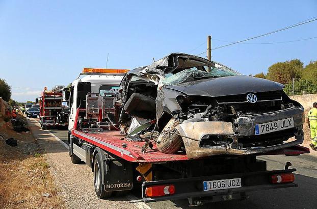 Mueren cuatro miembros de una misma familia en un accidente en Santa Margalida.