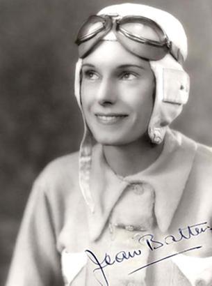 Angetan mit Fliegermütze und Pilotenbrille samt einem Hauch Parfüm. So präsentierte sich Jean Gardner Batten auf unzähligen sign